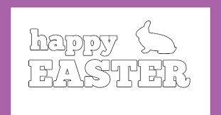 Make them color the polka dots with bright fun. Happy Easter Card For Kids To Decorate