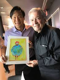 jacques pepin with ming tsai at taping of simply ming with jacques granddaughter sy