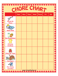 Printed Out A Chore Chart And Covered It Front And Back