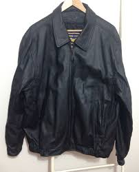 airborne leathers flight er jacket size mens l black leather w zip out liner 1 of 11only 1 available see more