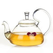 700cc glass tea pot chinese kung fu flower tea kettle with infuser heat resistant glass