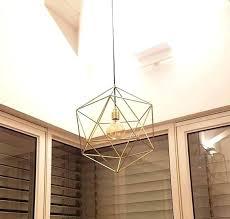 cage light shade geometric chandelier lighting entryway modern geometric chandelier lighting brass pendant cage light shade