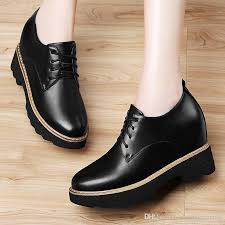 womens casual shoes girls flats shoes leather shoes women pu leather creepers oxfords platform flats lace up artificial shoes 8495 34 39