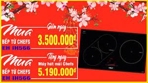 Bộ 3 bếp từ Chefs inverter nhập khẩu Đức đang giảm giá cực rẻ