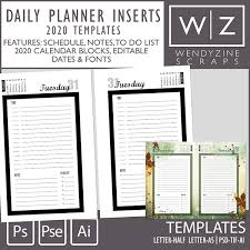 Daily Planner Template 2020 Oscraps Com Digital Scrapbook Store Scrapbooking Art