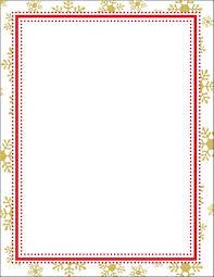 Gold Snowflake Border Holiday Stationery 50 Sheets