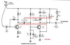 uhf antenna amplifier booster electronics in 2019 simple two transistors am transmitter circuit