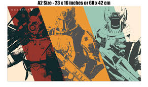 destiny pc xbox ps3 game giant wall poster  on giant wall poster art print with destiny pc xbox ps3 game giant wall poster art print k010 ebay
