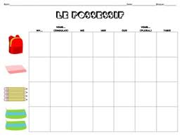 Possessive Adjectives Chart For French Class