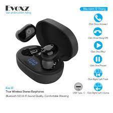 Mã 66ELHASALE hoàn 7% xu đơn 500K] Tai Nghe Bluetooth Màu Đen EVOXZ EVO S1  - Tai nghe Bluetooth nhét Tai Nhãn hàng Evoxz