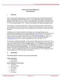 Meeting Summary Sample Public Meeting 1 Us 14 Cn Railway
