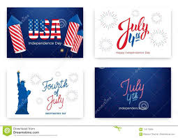 Fourth Of July Holiday Banners For Usa Independence Day