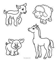 Coloring Pages Farm Animals Coloring Animal Pages Online Of Page