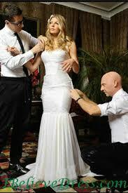 gorgeous fergie white mermaid wedding gowns celebrity designs