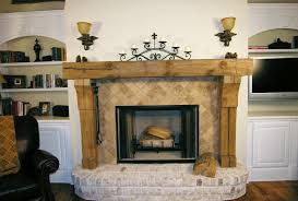 image of rustic fireplace mantels wooden