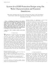 Transient Protection Design Pdf System Level Esd Protection Design Using On Wafer