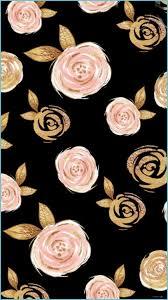 Rose Gold Flower Wallpaper ...