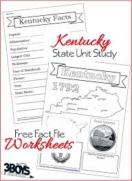 Kentucky State Fact File Worksheets | Worksheets, Unit studies and ...