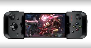 iphone game controller. the collapsible, travel friendly design of controller makes it a truly mobile and portable piece kit for those gaming fans. iphone game e