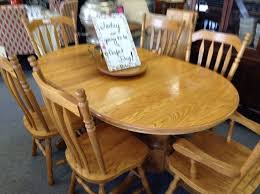 solid oak dining set golden oak table and 6 chairs 2 captains chairs and