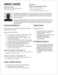 Entry Level Data Analyst Resume Stunning Analyst Resume Actuarial Analyst Resume Template For Ms Word Data