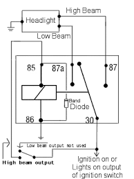 basic wiring queenz kustomz power diverting relay schematic diagram