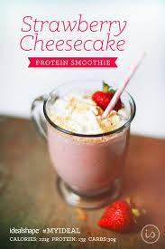 from idealshape healthy dessert 1 scoop strawberry idealshake 1 cup unsweetened almond milk 1