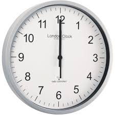 office clock wall. radio controlled silver office wall clock 305cm w