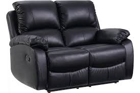 roma leather recliner sofa 3 2 in grey