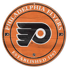 Flyers Logo Pictures Philadelphia Flyers Circle Logo Wood Sign