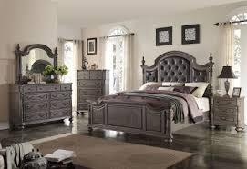 Lovely Monticello Dark Gray Poster Bedroom Set