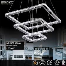 square crystal led ceiling light fixture pendant lighting 5 squares crystal chandelier stair lighting for hotel
