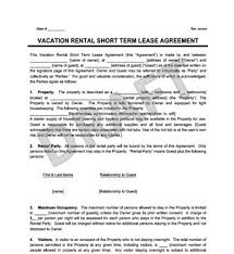 Lease Agreement In Pdf Cool Vacation Rental Short Term Lease Agreement Create Download Endear