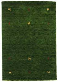 RugVista Gabbeh Loom  Dark Green Rug 3u00273u0026quot X5u00273 100x160