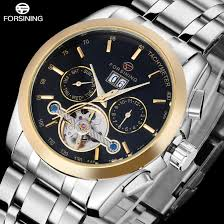 2016 forsining luxury brand watches men full stainless steel black 2016 forsining luxury brand font b watches b font men full stainless steel black gold automatic