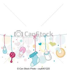 Baby Things Clipart Baby Things Illustration Of Baby Related Items