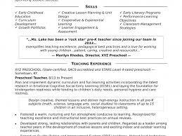Preschool Teacher Resume Sample Download Preschool Teacher Resume Sample DiplomaticRegatta 20
