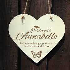 personalised wooden hearts plaque personalised bedroom door