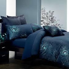 Peacock Inspired Bedroom Peacock Feather Duvet Cover Set Just Bleu Pinterest Beyond