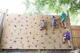 backyard rock climbing wall