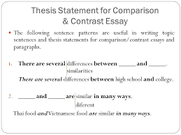 College Vs High School Essay Compare And Contrast Comparison And Contrast Essay Example Compare And Contrast High