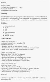 Salesforce Administrator Jobs Glasgow Scheme Of Salesforce Developer Mesmerizing Salesforce Resume