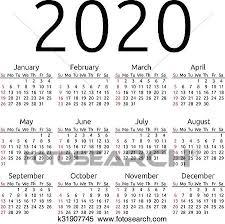 Vettore Calendario 2020 Domenica Clipart K31907745 Fotosearch
