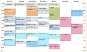 Sample College Class Schedule Class Schedule Template Free Class Schedule Template In College