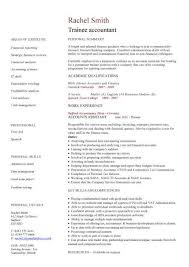 Trainee Accountant Cv Sample