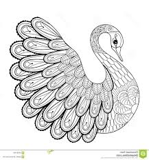 Royalty Free Coloring Pages Bl5t Hand Drawing Artistic Swan For