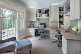 dual office desk. Double Desk Home Office Built In Bookshelves Transitional With Dual