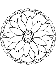 Small Picture Simple Mandala with Flower coloring page Free Printable Coloring