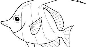 Fish Printable Fish Coloring Page Template Tropical Fish