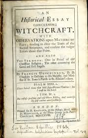 science fiction special collections at virginia tech title page for 039 an historical essay concerning witchcraft
